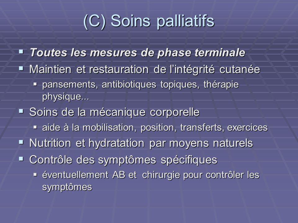 (C) Soins palliatifs Toutes les mesures de phase terminale