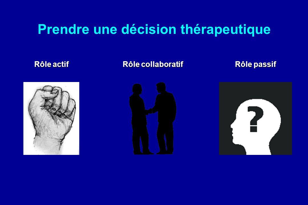 Prendre une décision thérapeutique