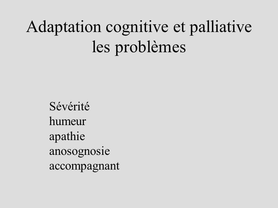 Adaptation cognitive et palliative les problèmes