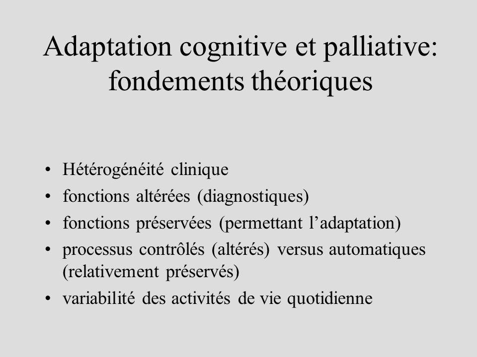 Adaptation cognitive et palliative: fondements théoriques