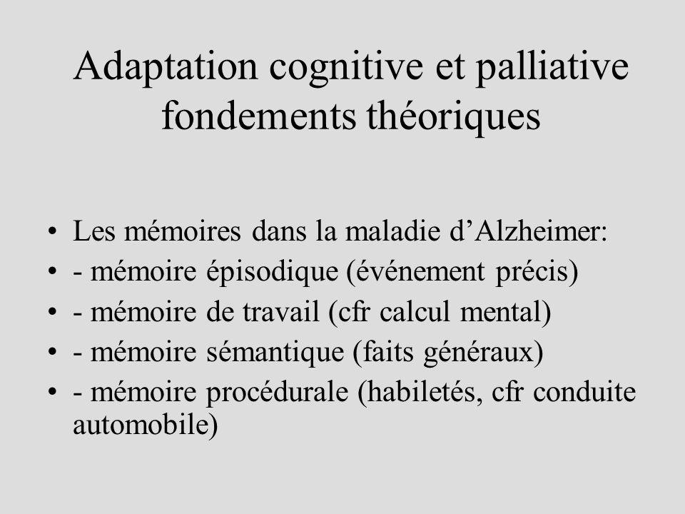 Adaptation cognitive et palliative fondements théoriques