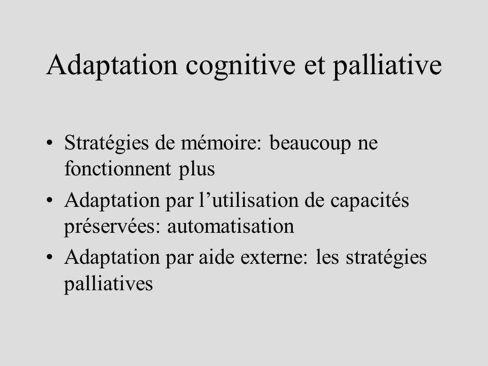 Adaptation cognitive et palliative