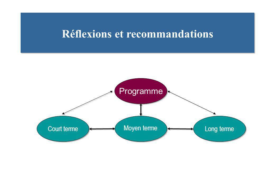 Réflexions et recommandations