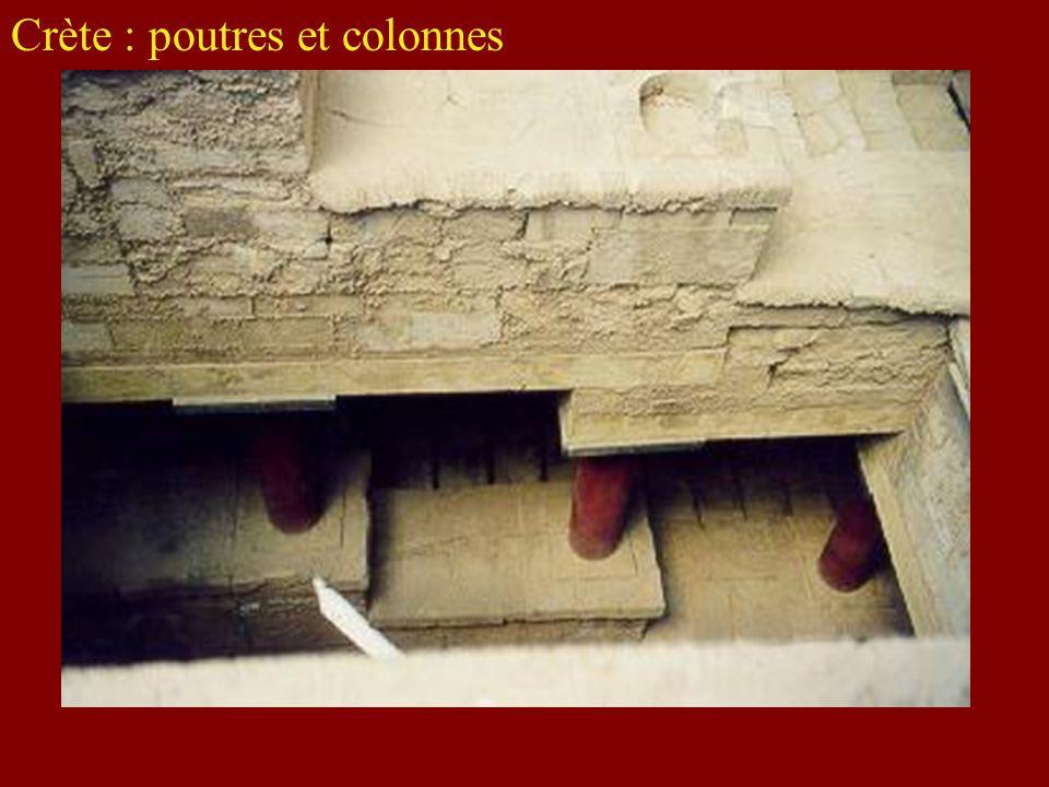 Crète : poutres et colonnes