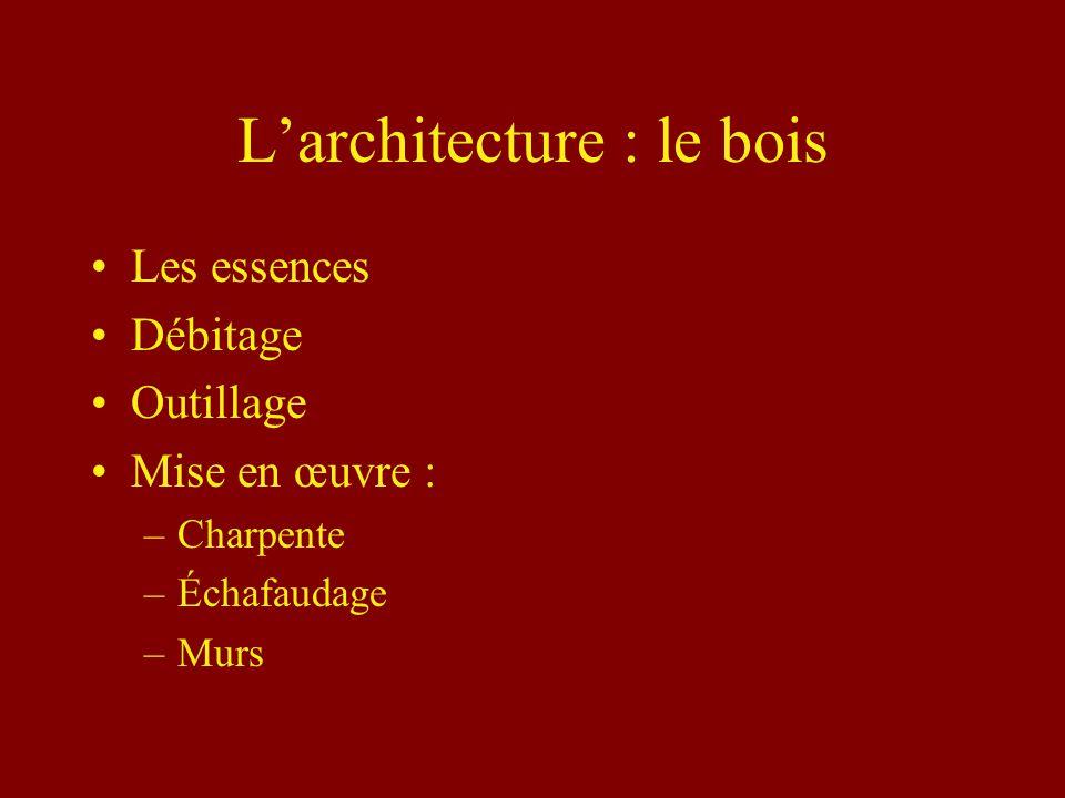 L'architecture : le bois