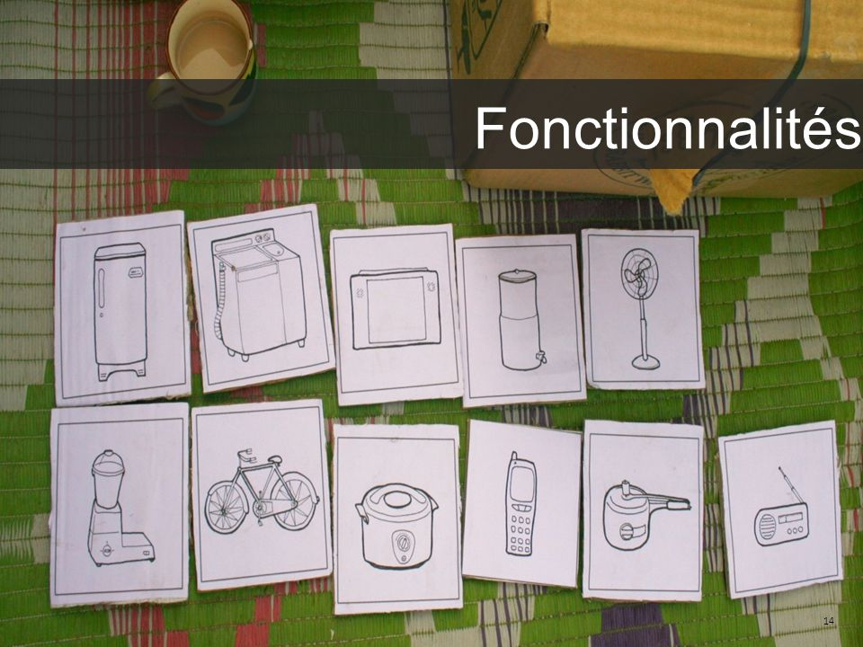 Fonctionnalités We help you identify what you want to read 14