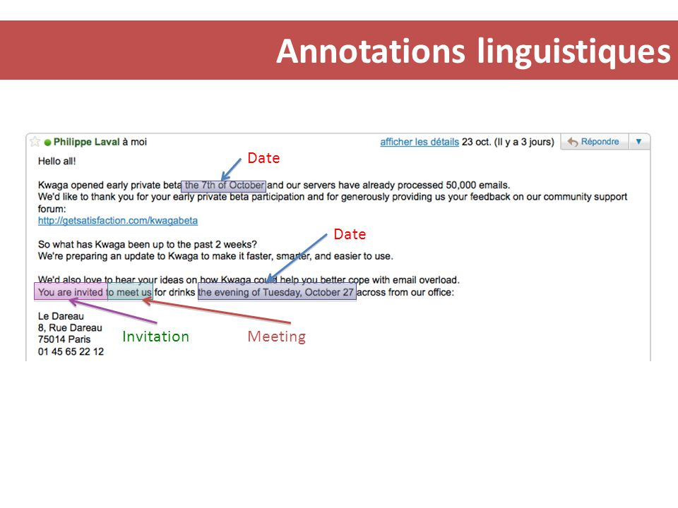 Annotations linguistiques