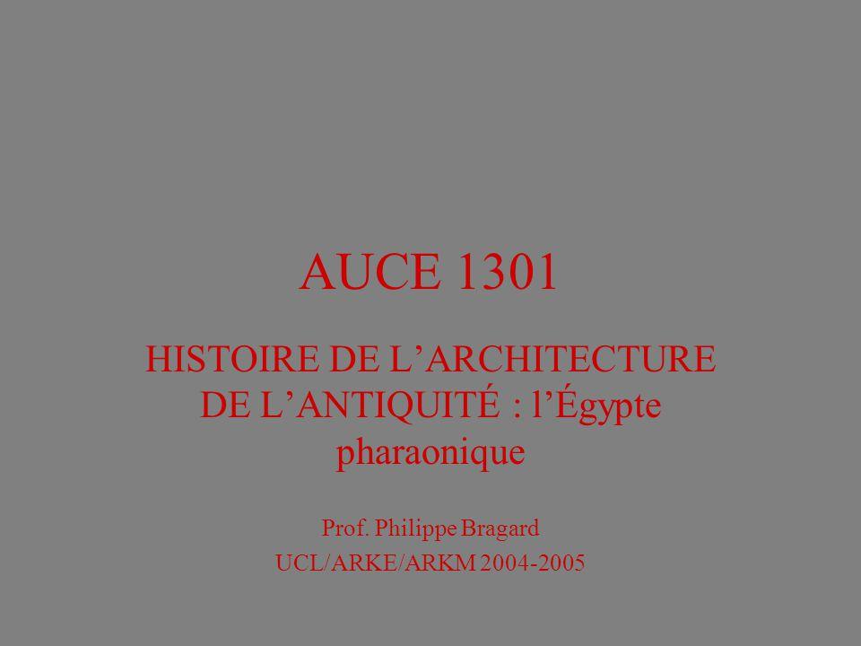 HISTOIRE DE L'ARCHITECTURE DE L'ANTIQUITÉ : l'Égypte pharaonique