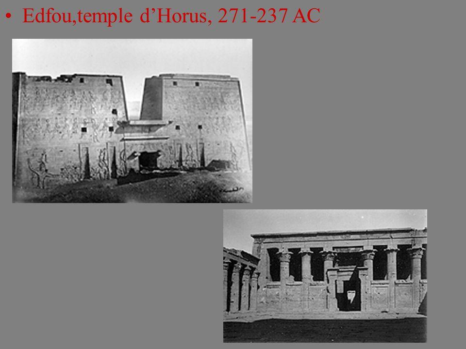 Edfou,temple d'Horus, 271-237 AC