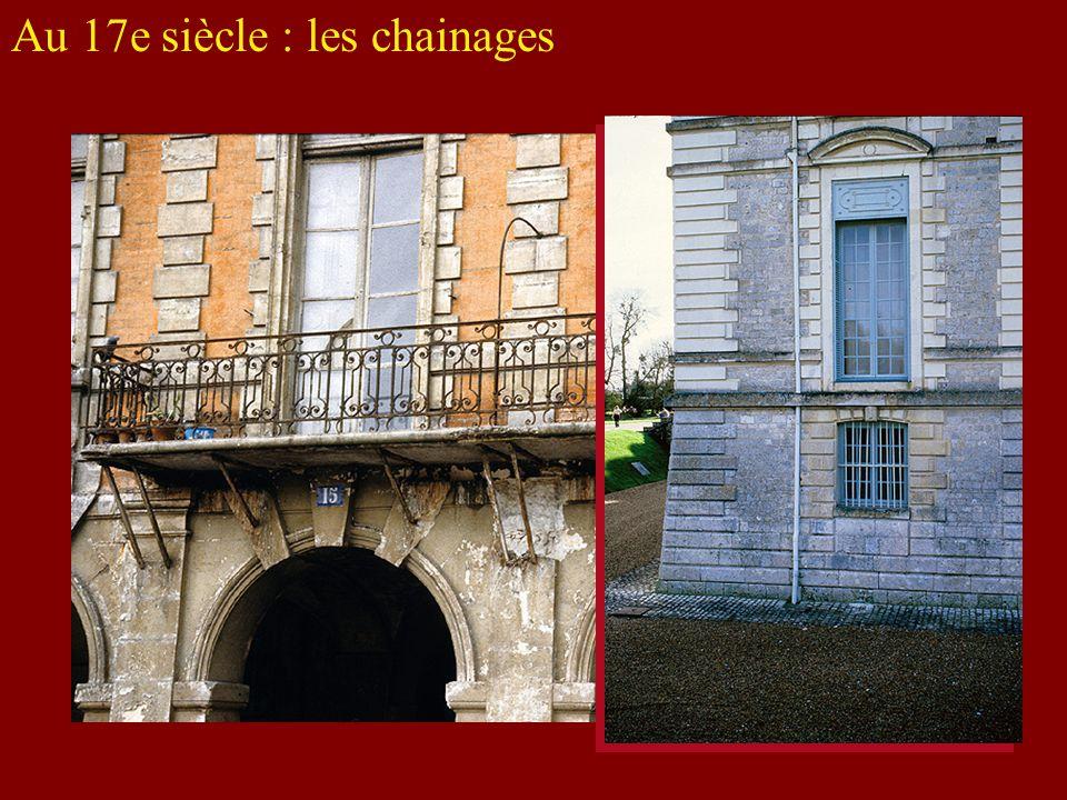 Au 17e siècle : les chainages
