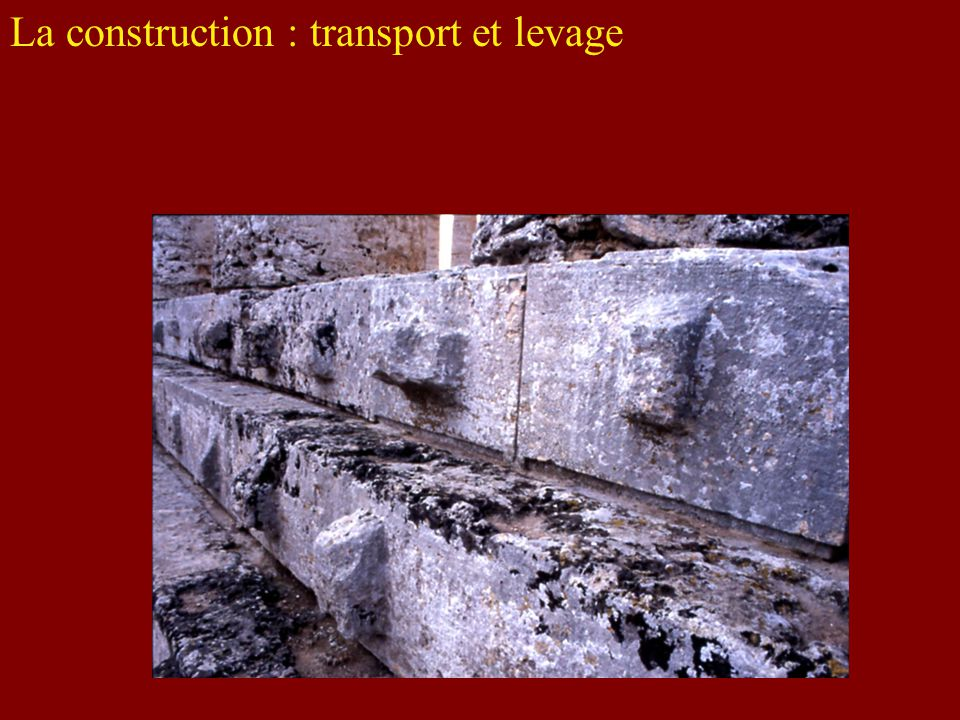 La construction : transport et levage