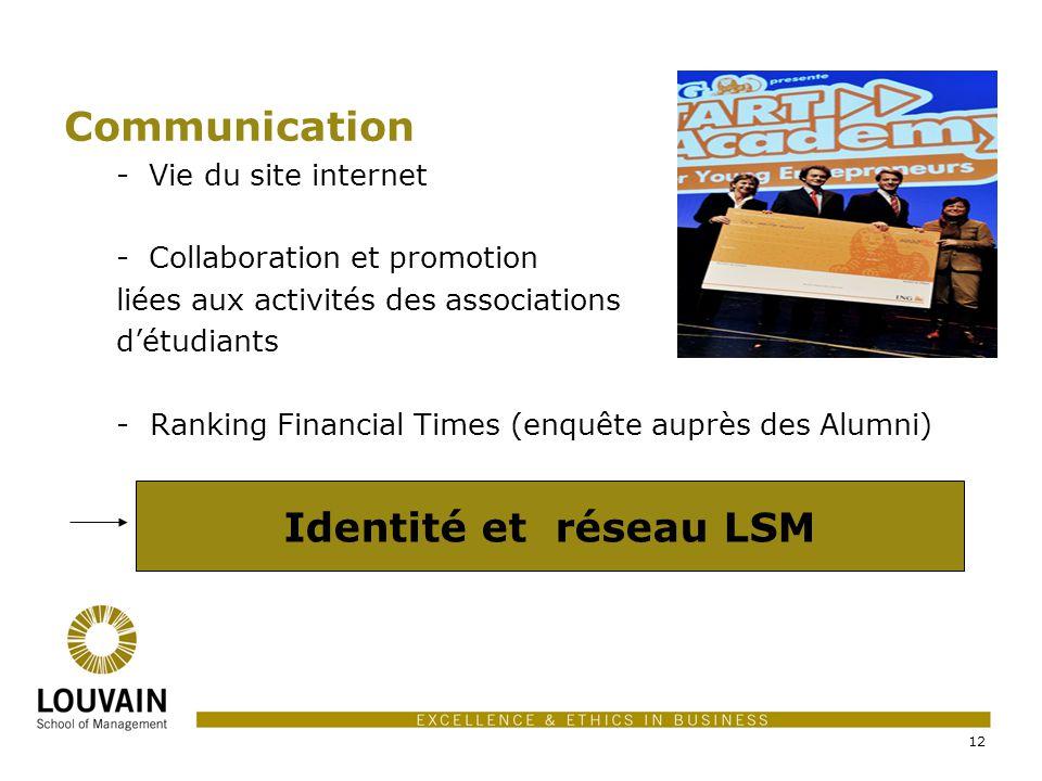 Communication Identité et réseau LSM Vie du site internet