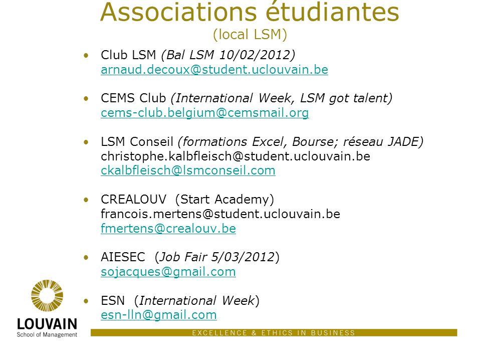 Associations étudiantes (local LSM)
