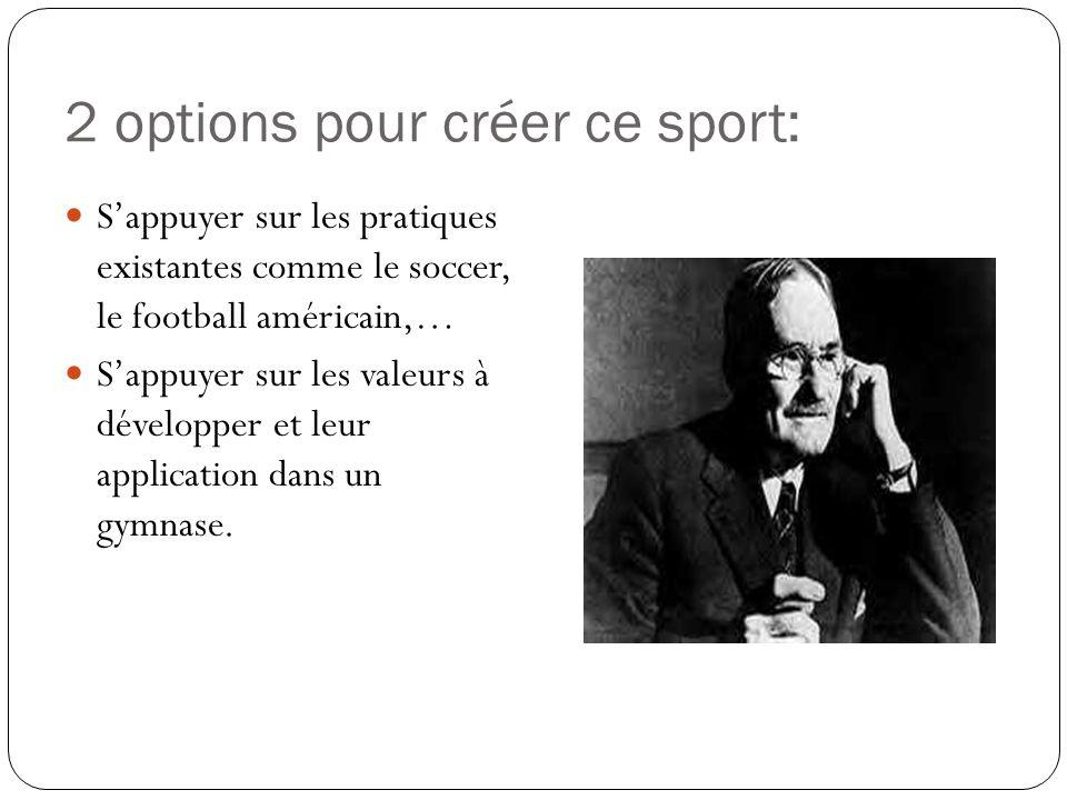 2 options pour créer ce sport: