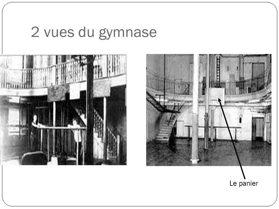 2 vues du gymnase Le panier