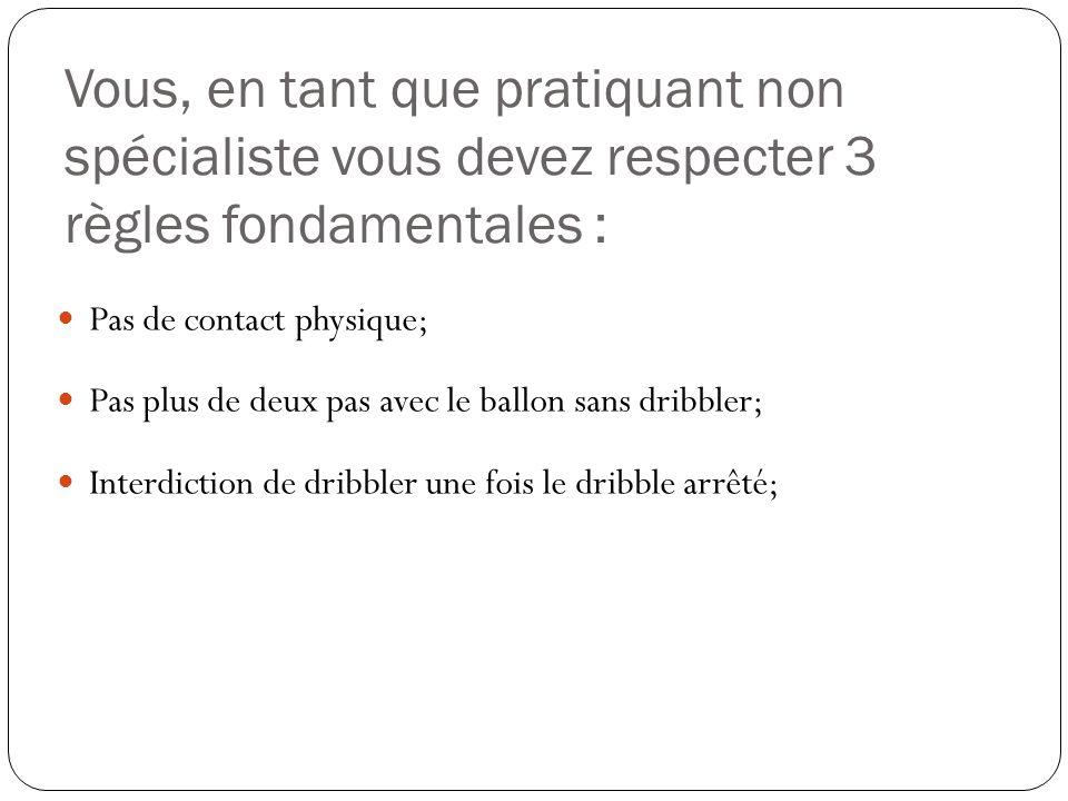 Vous, en tant que pratiquant non spécialiste vous devez respecter 3 règles fondamentales :