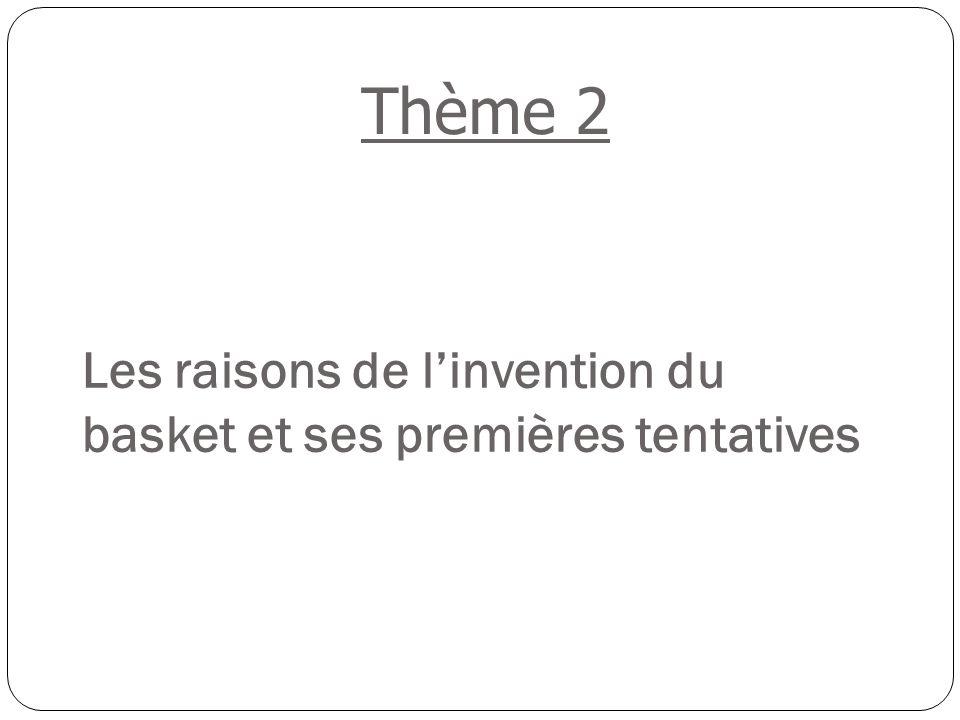 Les raisons de l'invention du basket et ses premières tentatives