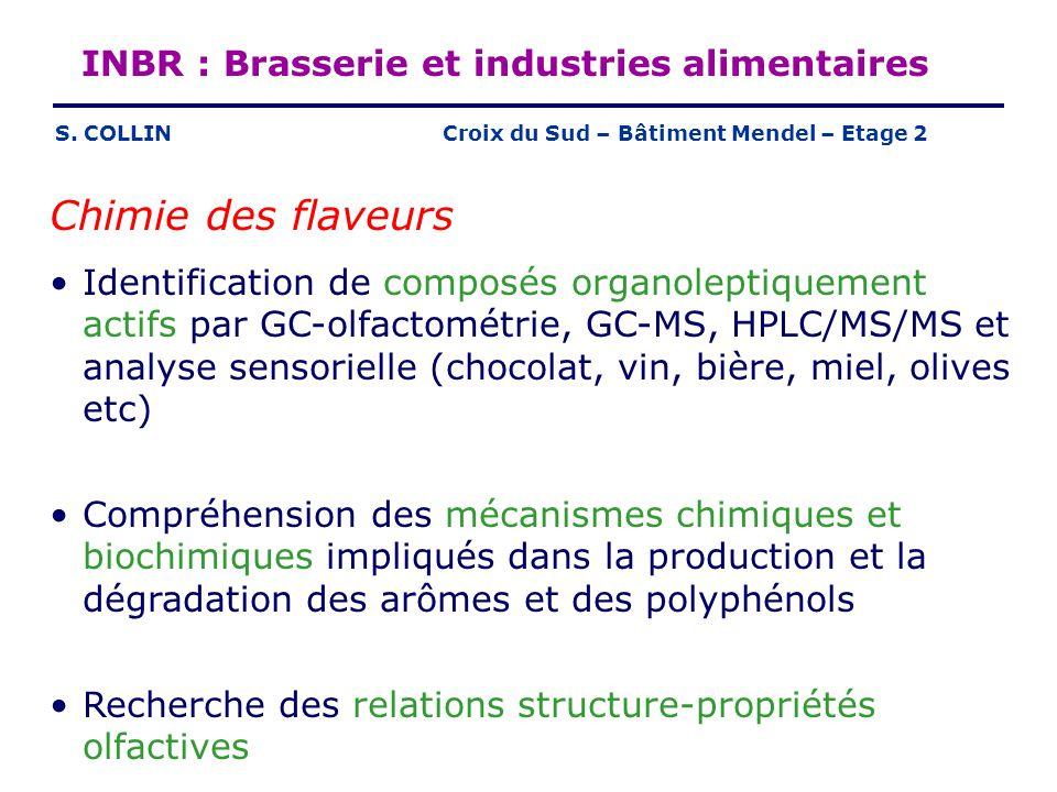 Chimie des flaveurs INBR : Brasserie et industries alimentaires