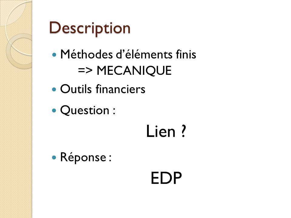 Lien EDP Description Méthodes d'éléments finis => MECANIQUE