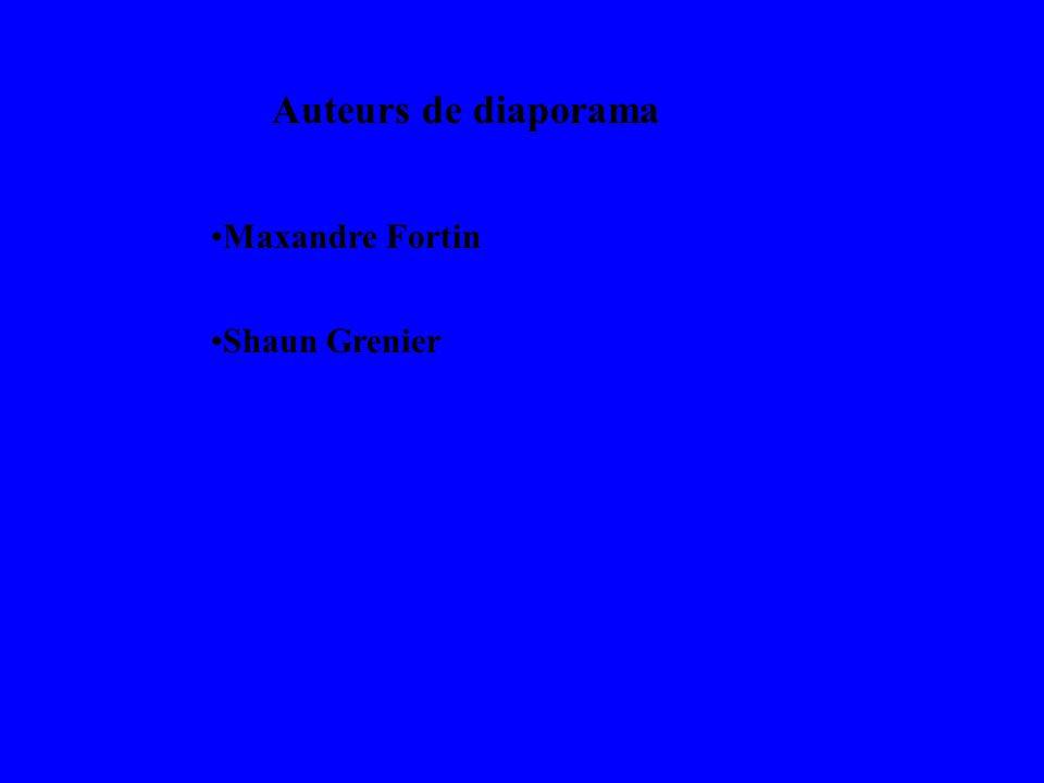 Auteurs de diaporama Maxandre Fortin Shaun Grenier