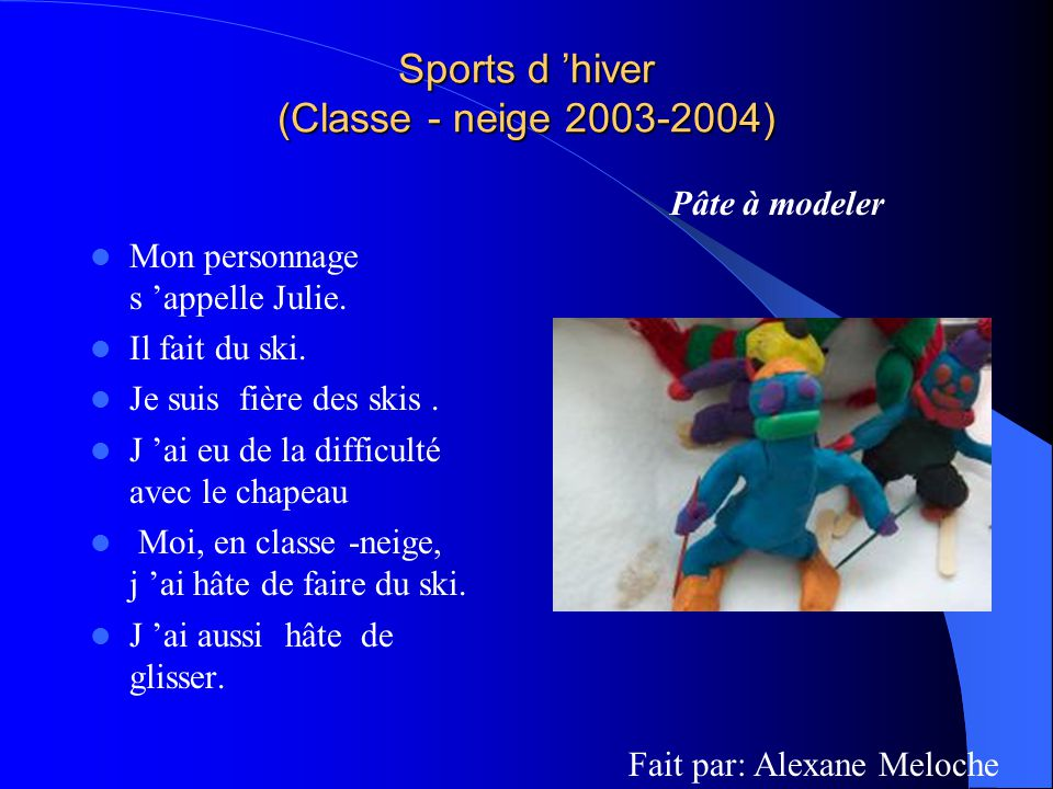 Sports d 'hiver (Classe - neige 2003-2004)