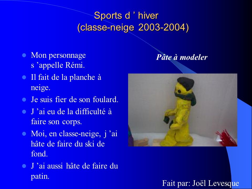 Sports d ' hiver (classe-neige 2003-2004)