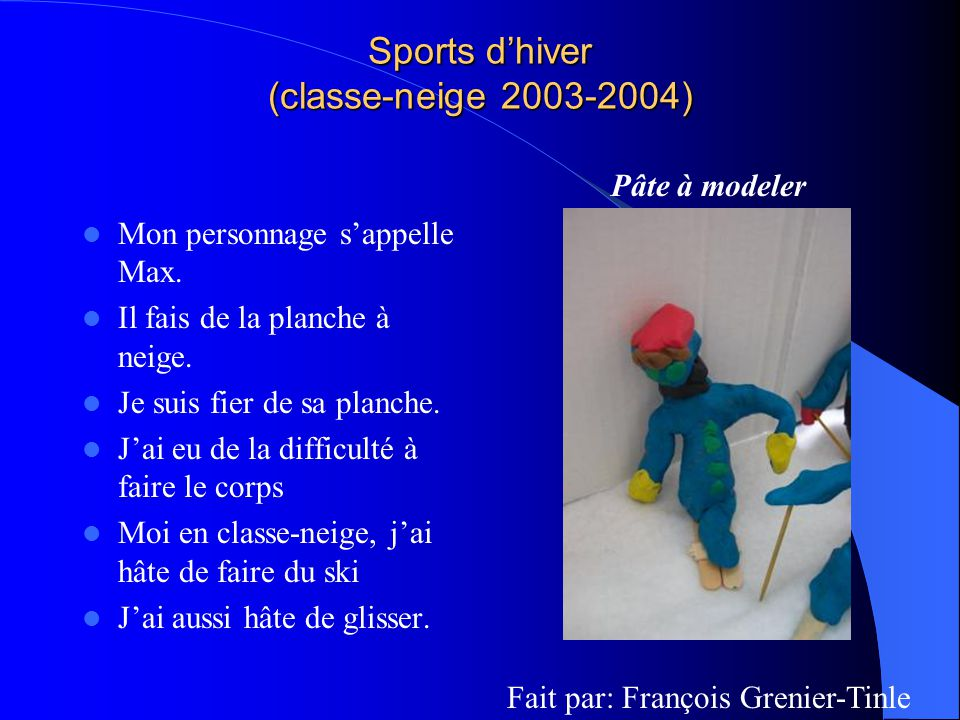 Sports d'hiver (classe-neige 2003-2004)