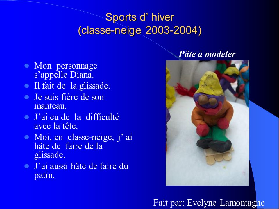 Sports d' hiver (classe-neige 2003-2004)