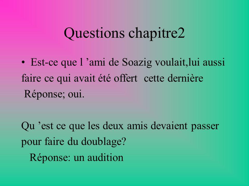 Questions chapitre2 Est-ce que l 'ami de Soazig voulait,lui aussi