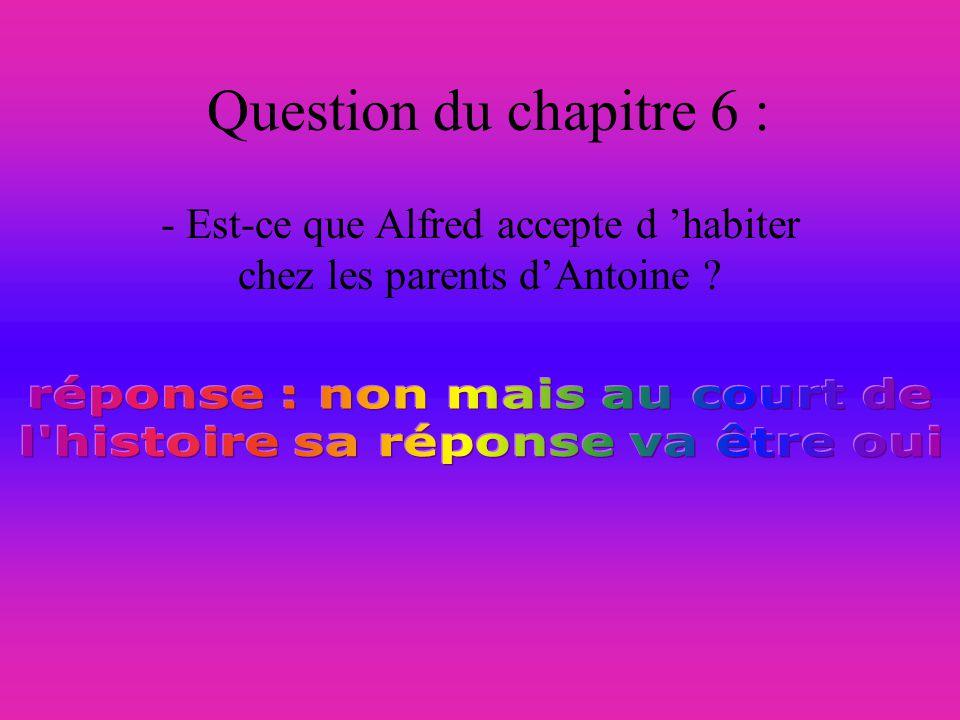- Est-ce que Alfred accepte d 'habiter chez les parents d'Antoine