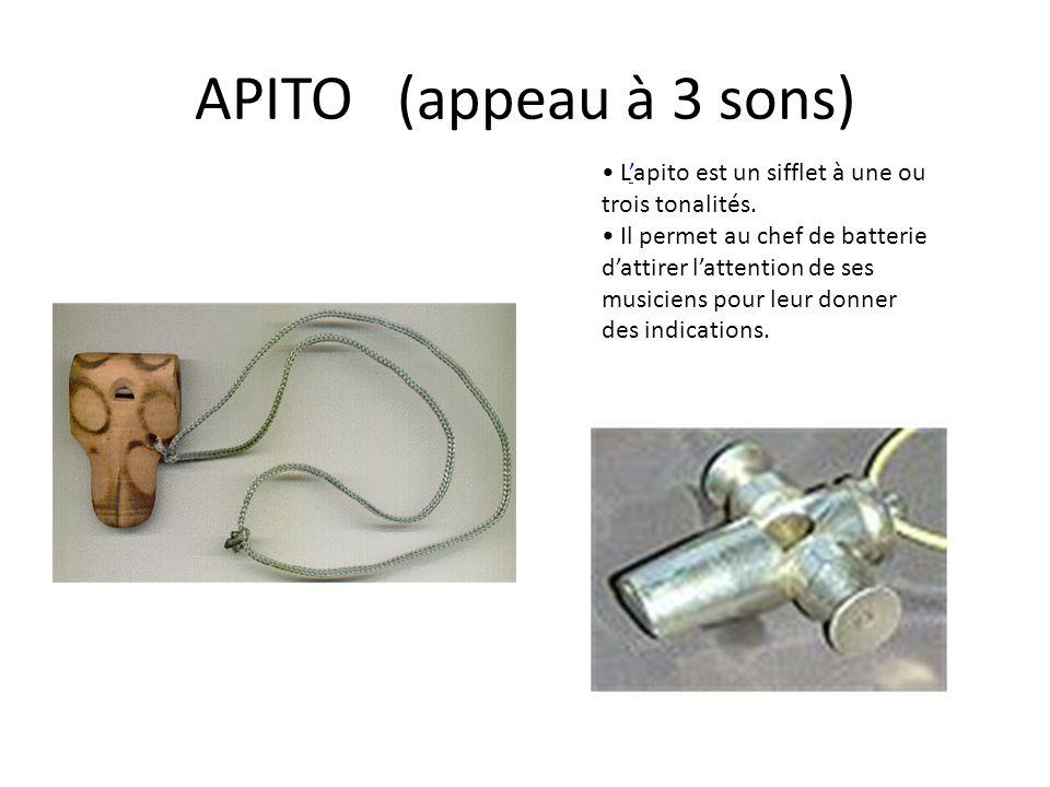 APITO (appeau à 3 sons) • L'apito est un sifflet à une ou trois tonalités.