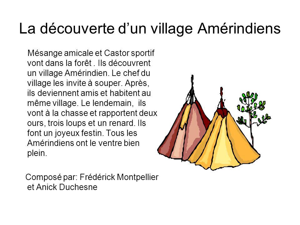 La découverte d'un village Amérindiens