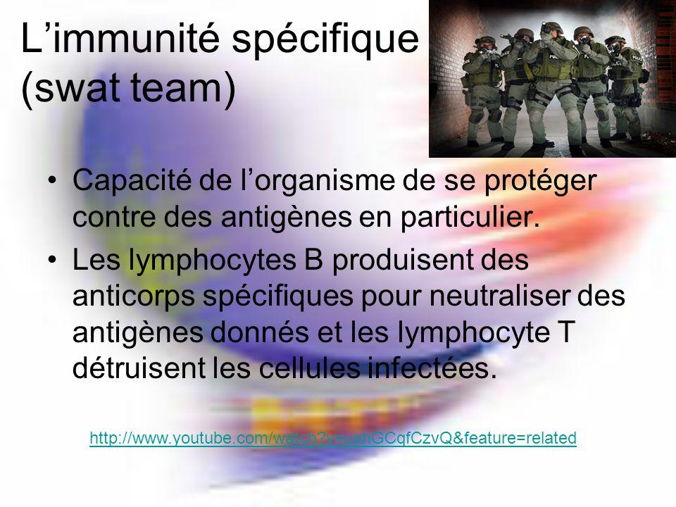 L'immunité spécifique (swat team)