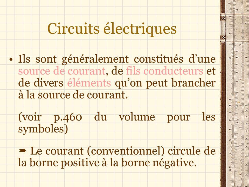 Circuits électriques