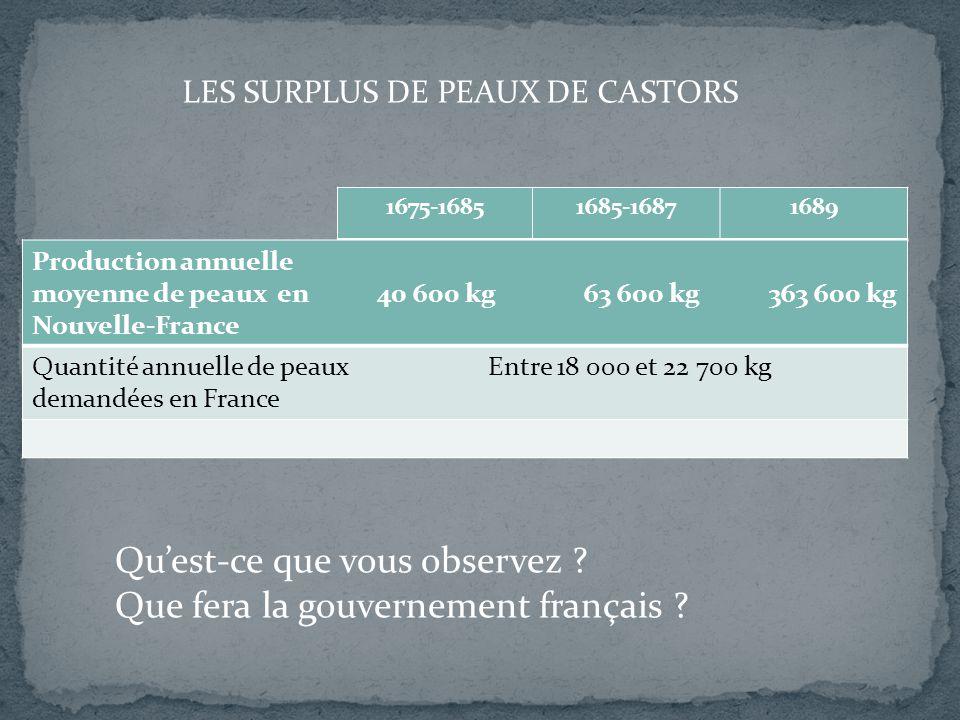 Qu'est-ce que vous observez Que fera la gouvernement français