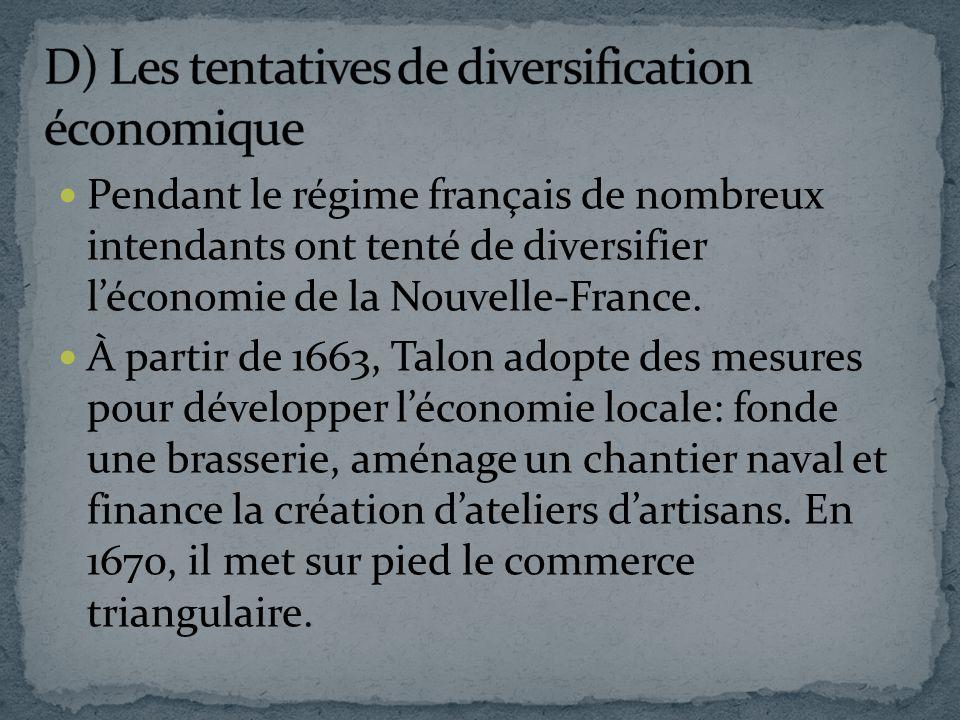 D) Les tentatives de diversification économique