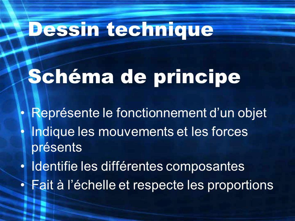 Dessin technique Schéma de principe