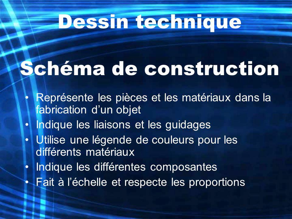Dessin technique Schéma de construction