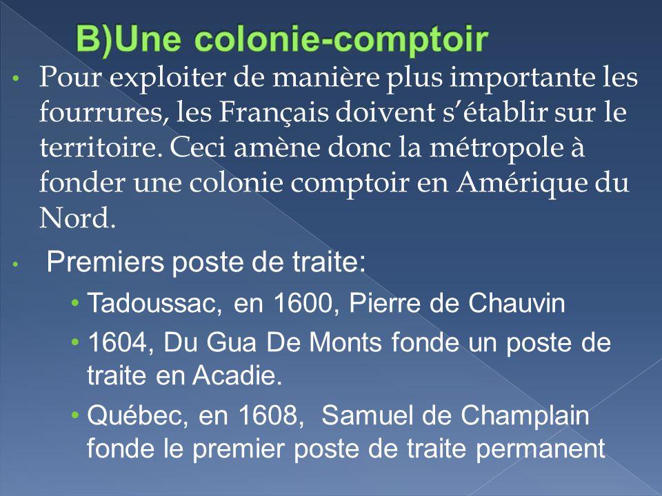 B)Une colonie-comptoir
