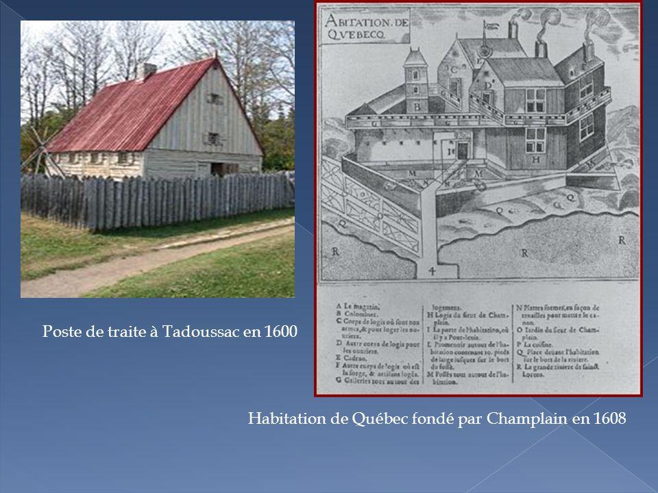 Poste de traite à Tadoussac en 1600