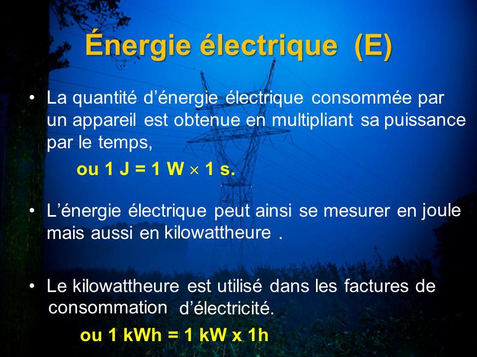 Énergie électrique (E)