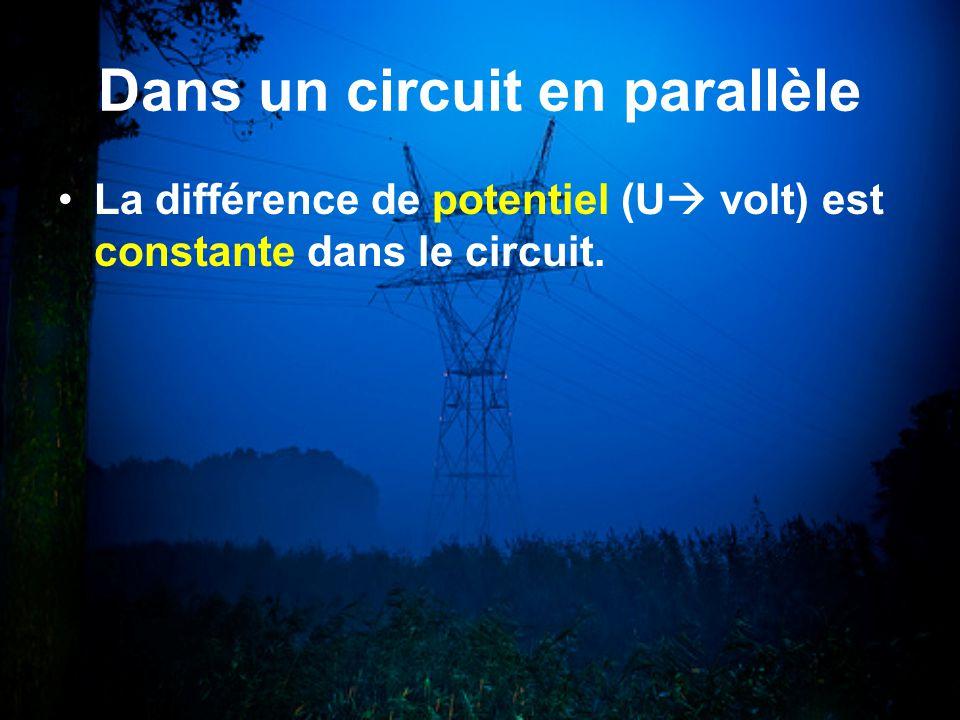 Dans un circuit en parallèle