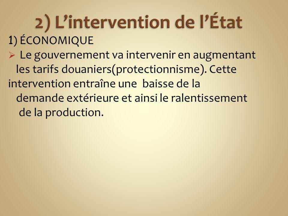 2) L'intervention de l'État