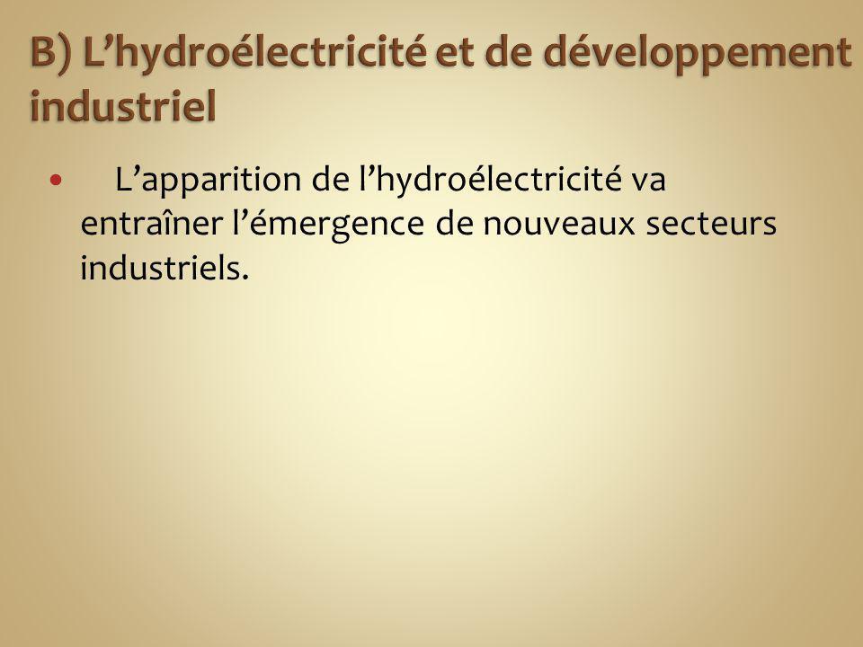 B) L'hydroélectricité et de développement industriel