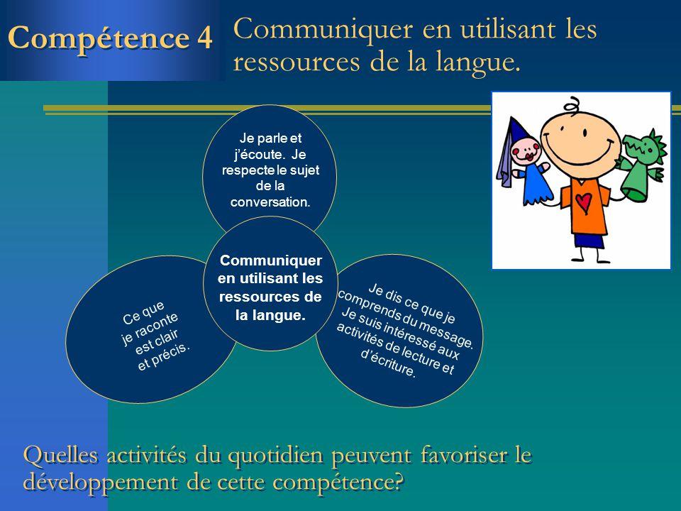 Communiquer en utilisant les ressources de la langue.