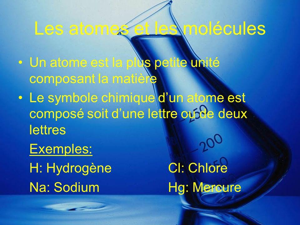 Les atomes et les molécules
