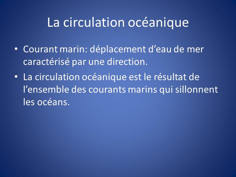 La circulation océanique