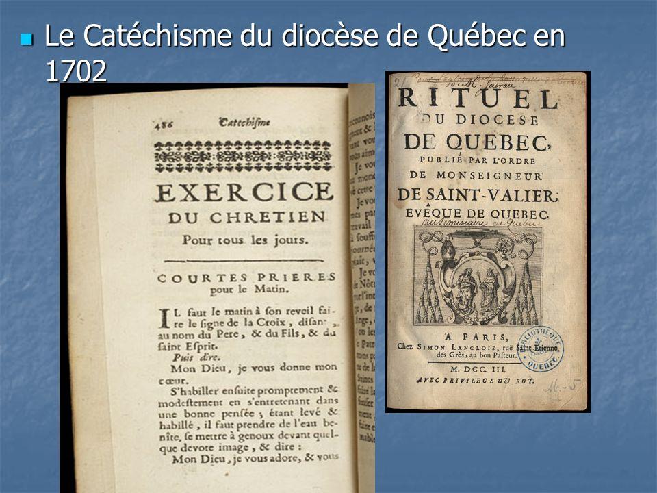 Le Catéchisme du diocèse de Québec en 1702
