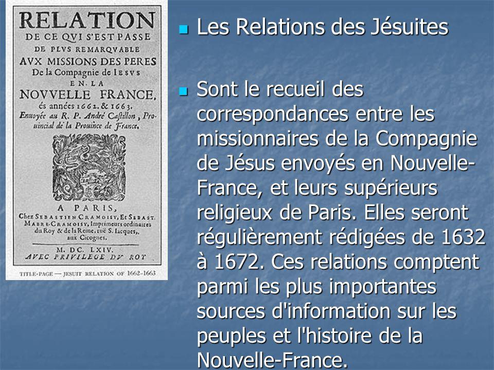 Les Relations des Jésuites