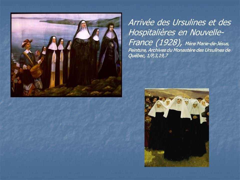 Arrivée des Ursulines et des Hospitalières en Nouvelle-France (1928), Mère Marie-de-Jésus, Peinture, Archives du Monastère des Ursulines de Québec, 1/P,3,19,7